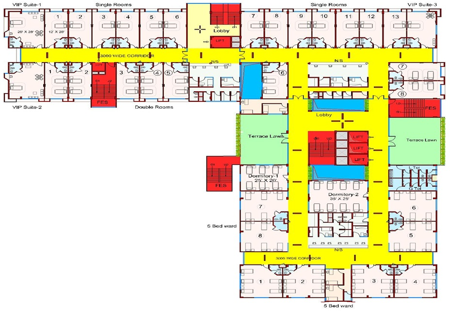 Sri Shankara Cancer Foundation > FLOOR PLAN > Not-For